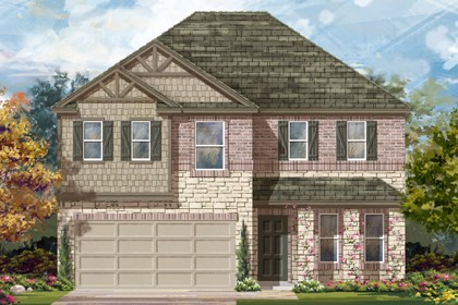 New Homes in Del Valle, TX - Plan E-2898 D