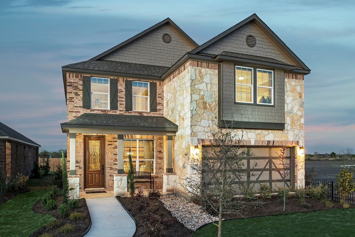New Homes in Del Valle, TX - The Trails at Stoney Ridge Plan E-2177