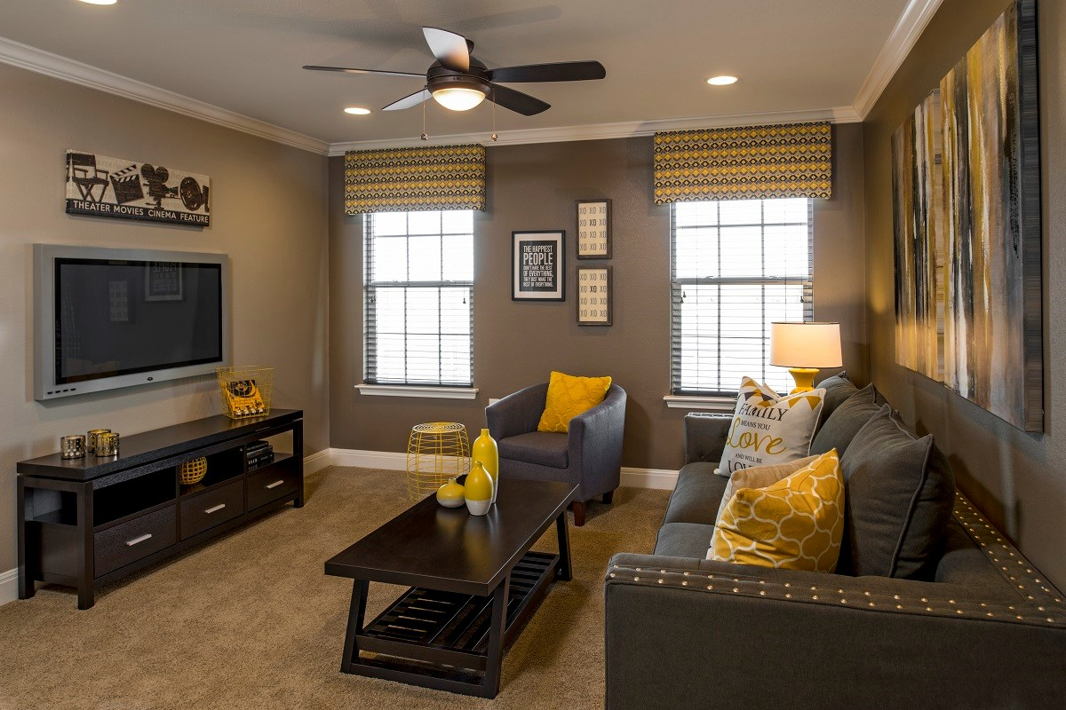 New Homes in Del Valle, TX - The Trails at Stoney Ridge Plan E-2177 Game Room
