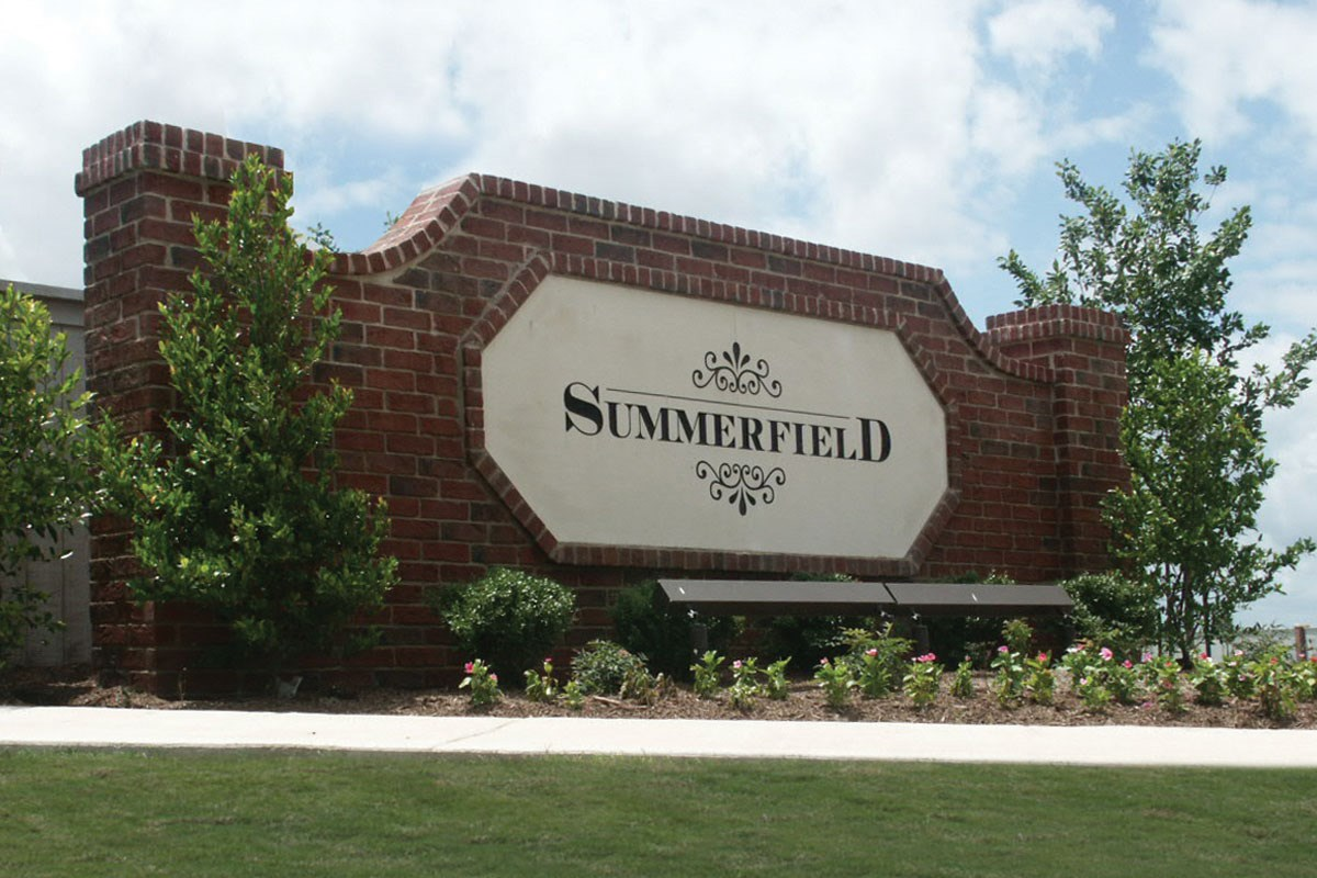 New Homes in Taylor, TX - Summerfield Community Entrance