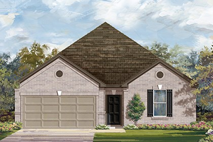 New Homes in Taylor, TX - Plan A-2382 B