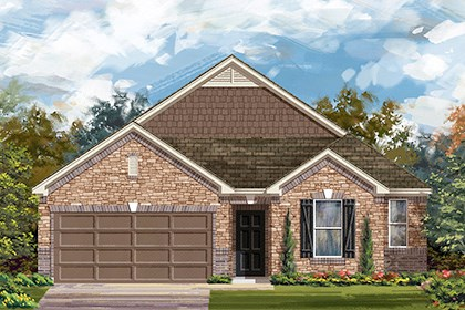 New Homes in Taylor, TX - Plan A-2382 C