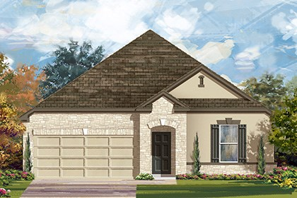 New Homes in Taylor, TX - Plan A-2382 D