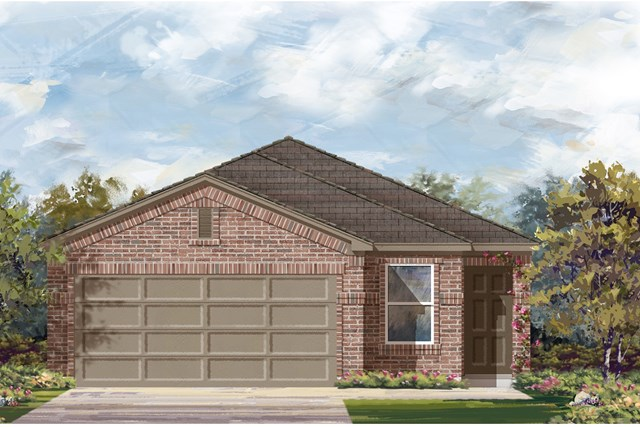 New Homes in Del Valle, TX - Plan F-1585 I