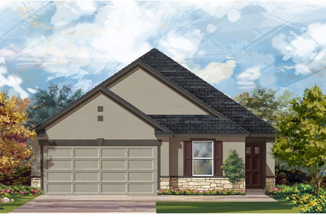 New Homes in Del Valle, TX - Plan E-1892 K