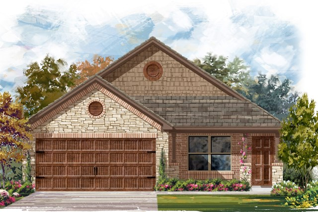 New Homes in Round Rock, TX - Plan E-1516 J