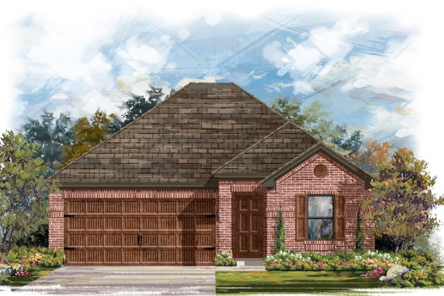 New Homes in Round Rock, TX - Plan E-1591 H