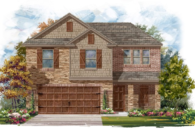 New Homes in Round Rock, TX - Plan E-1895 J