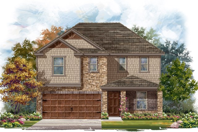 New Homes in Round Rock, TX - Plan E-2403 J