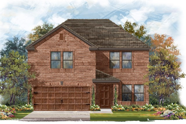 New Homes in Round Rock, TX - Plan E-2561 B