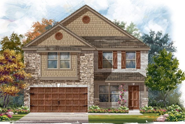New Homes in Round Rock, TX - Plan E-2177 J