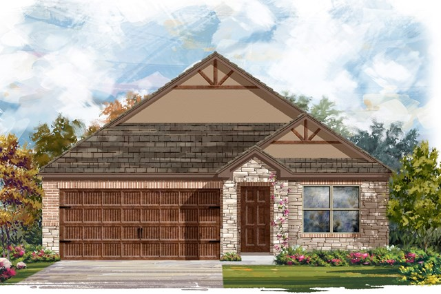 New Homes in Round Rock, TX - Plan E-1591 J