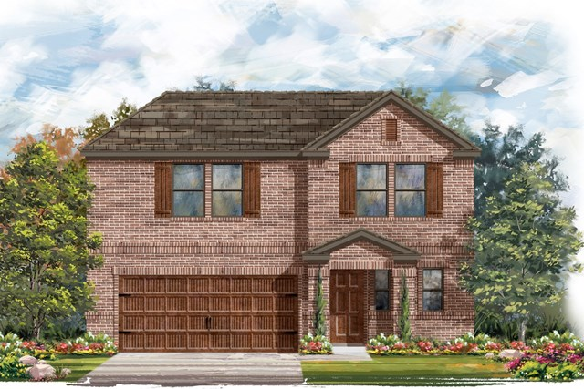 New Homes in Round Rock, TX - Plan E-2412 I