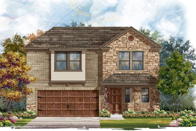 New Homes in Round Rock, TX - Plan E-2412 J