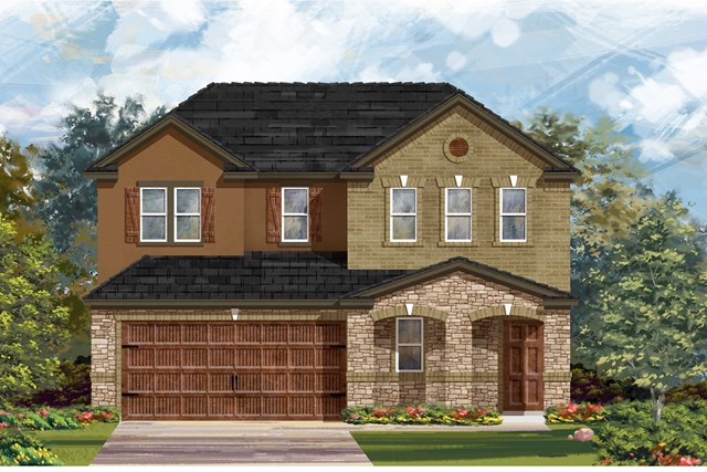New Homes in Round Rock, TX - Plan E-2516 J