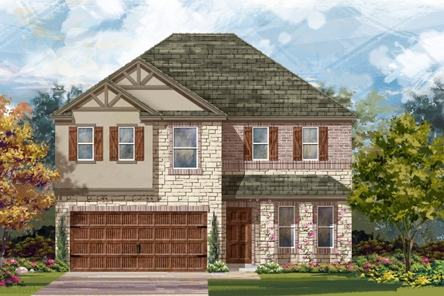 New Homes in Round Rock, TX - Plan E-2898 J