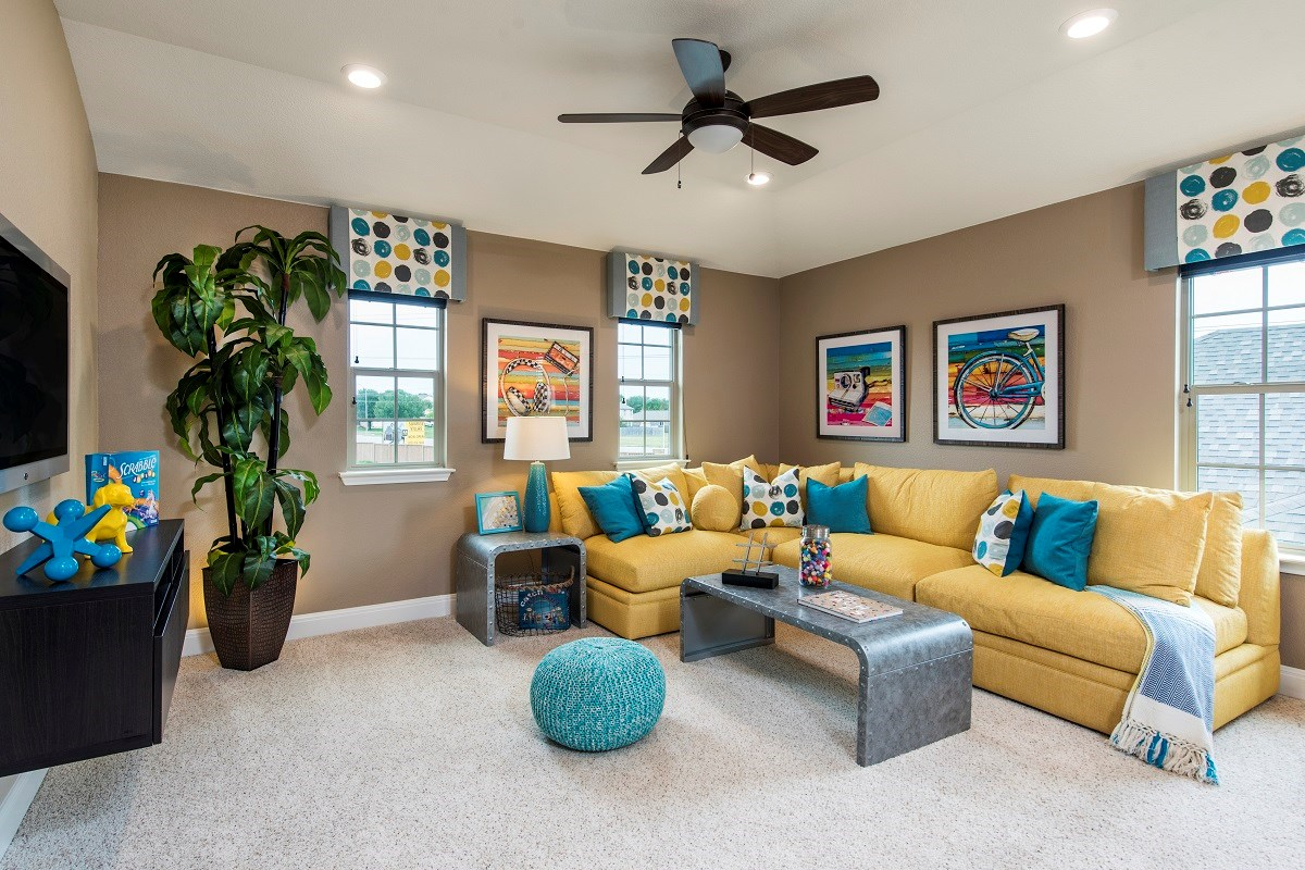 New Homes in Round Rock, TX - Sunrise Villas Plan E-2403 Game Room