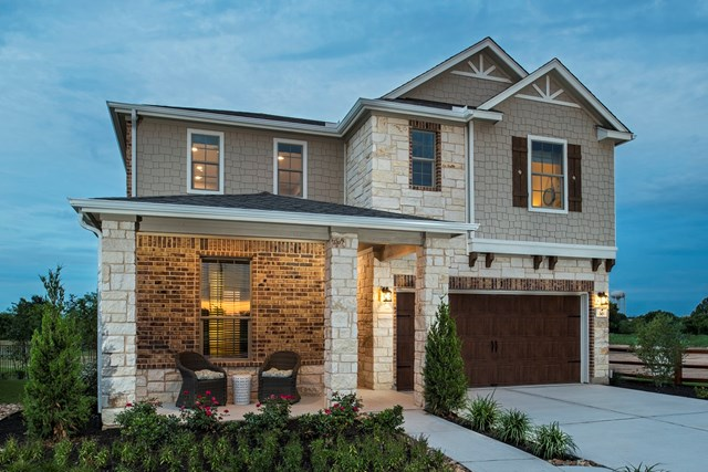 KB model home in Round Rock, TX