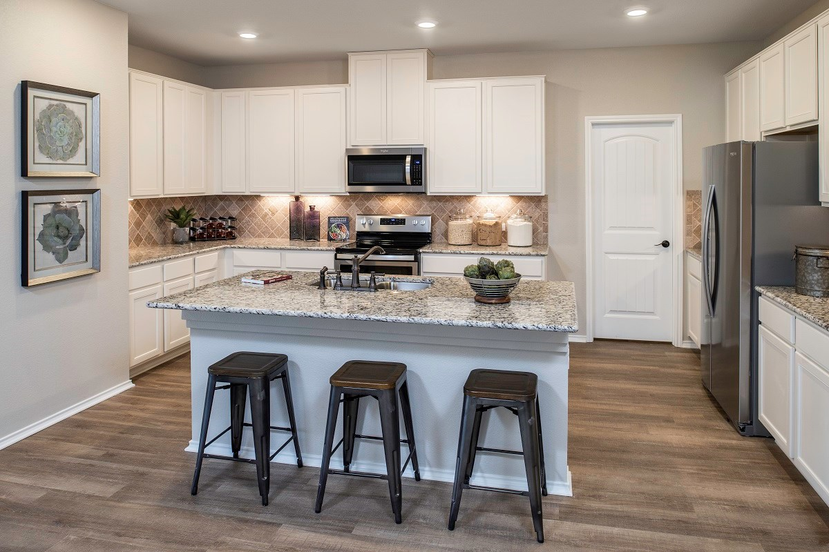 New Homes in Kyle, TX - Sunset Hills Plan A-1965 Kitchen