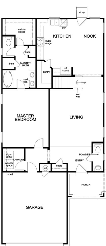 New Homes in Austin, TX - Plan 2495, First Floor