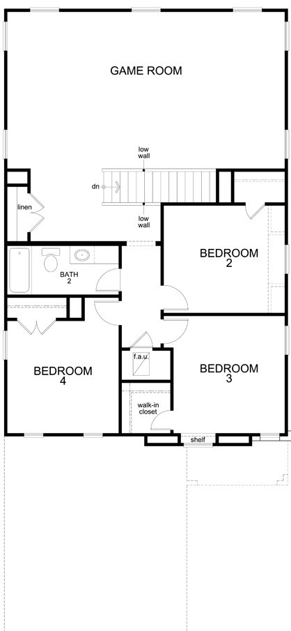 New Homes in Austin, TX - Plan 2495, Second Floor