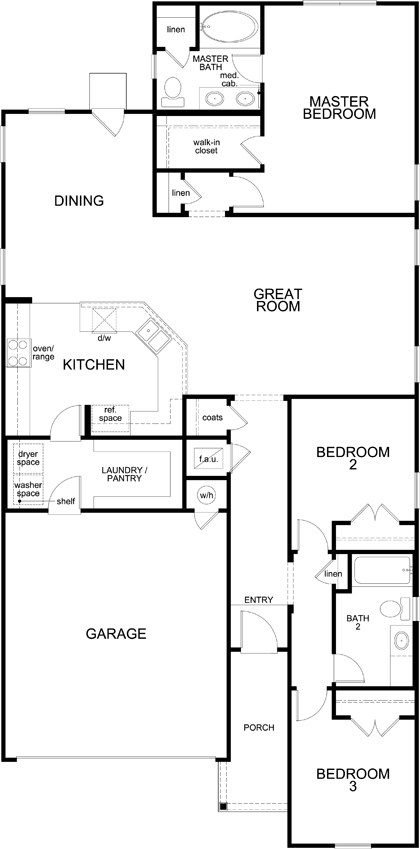 New Homes in Austin, TX - Plan 1647, First Floor