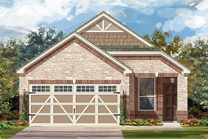 New Homes in Hutto, TX - Plan F-1340 K