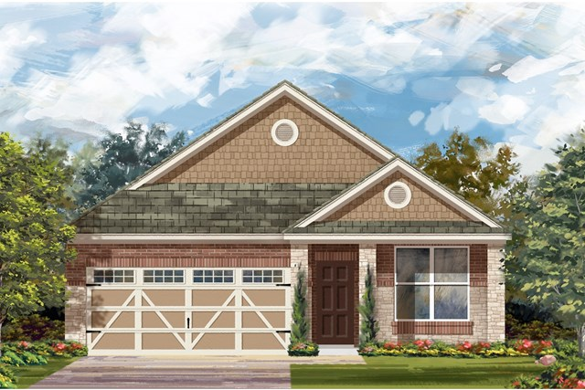 New Homes in Hutto, TX - Plan E-1647 J