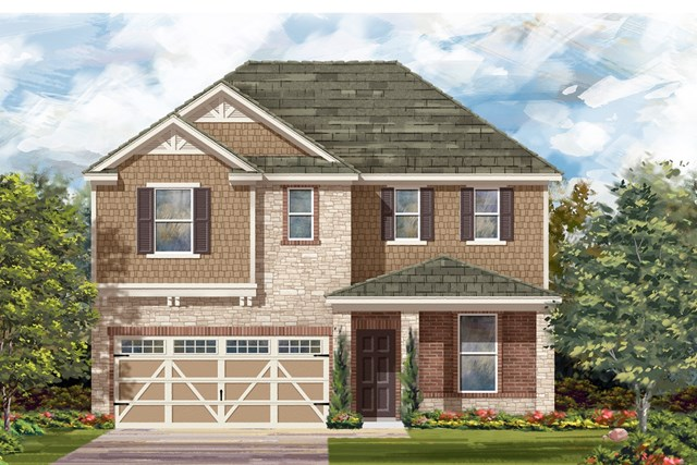 New Homes in Hutto, TX - Plan E-2403 J