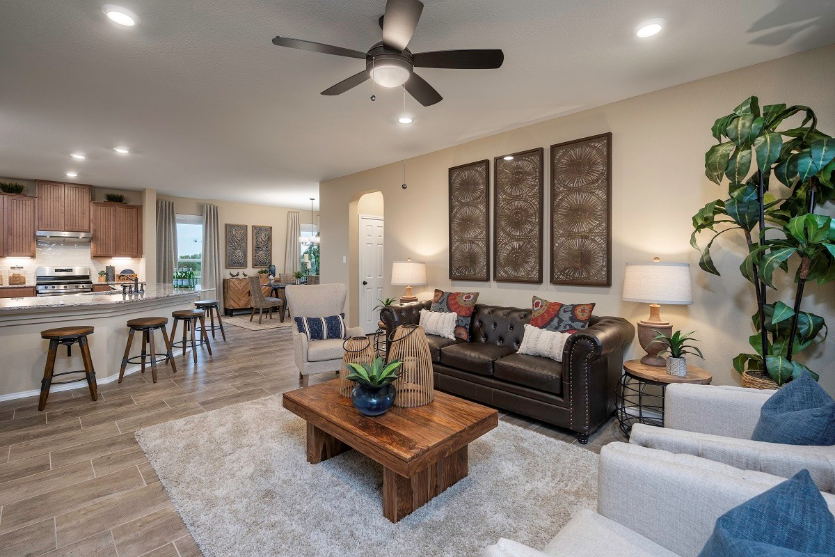 New Homes in Hutto, TX - Villas at Star Ranch Plan E-1647 Great Room