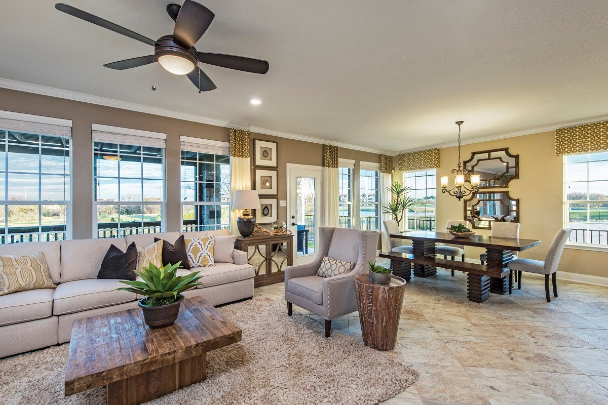 New Homes in Hutto, TX - Villas at Star Ranch Plan F-2411 Great Room