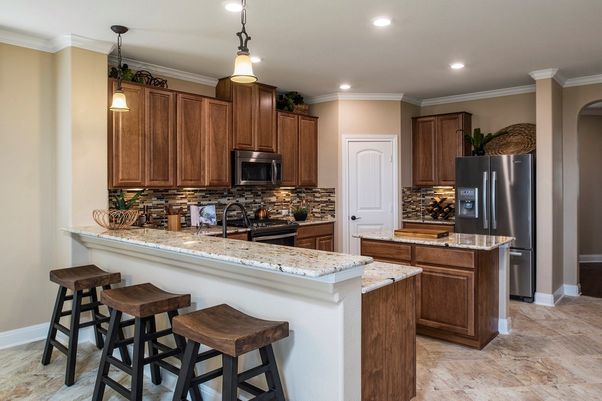 New Homes in Hutto, TX - Villas at Star Ranch Plan F-2411 Kitchen