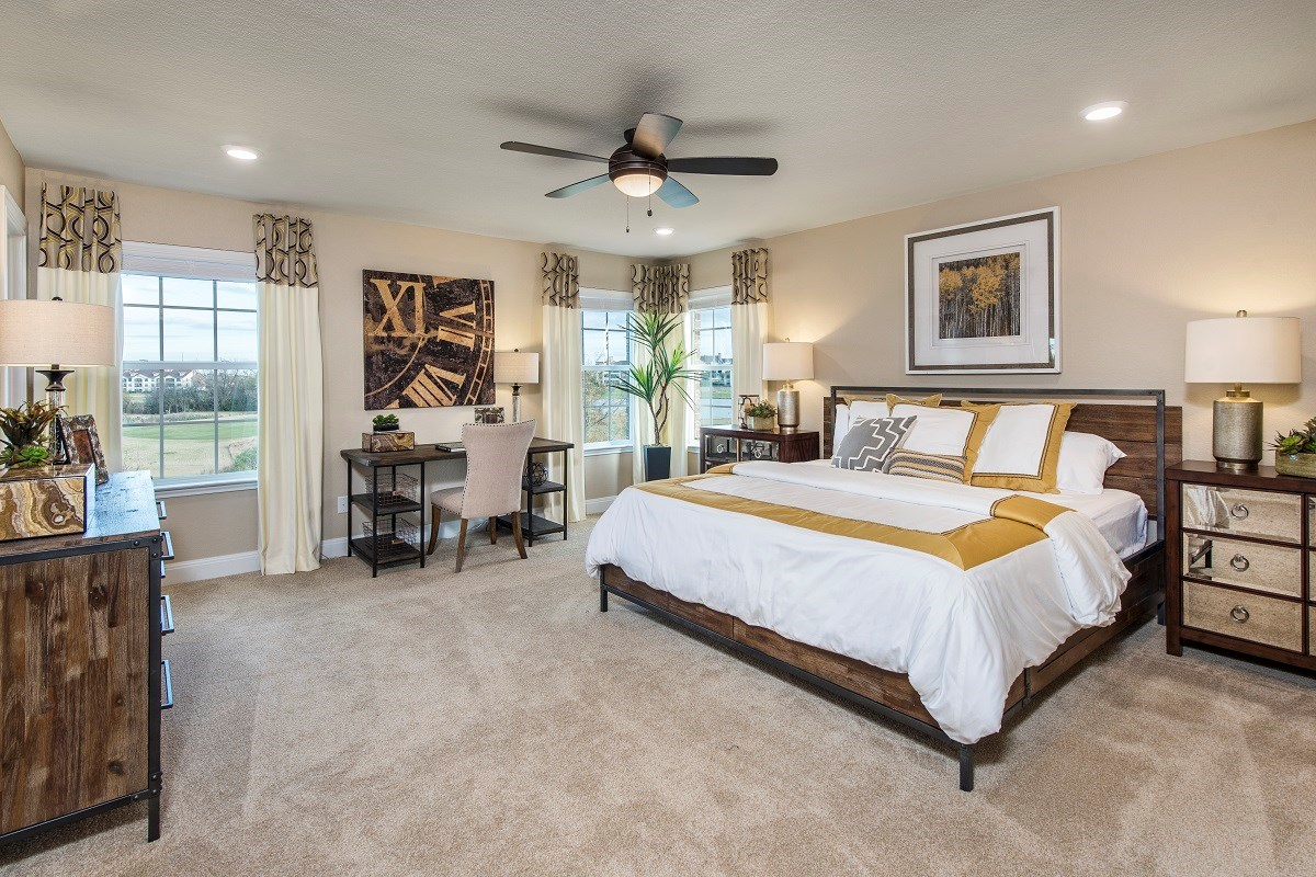 New Homes in Hutto, TX - Villas at Star Ranch Plan F-2411 Master Bedroom
