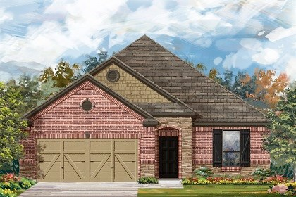 New Homes in Liberty Hill, TX - Plan A-1675 C