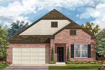 New Homes in Taylor, TX - Plan A-1996 B