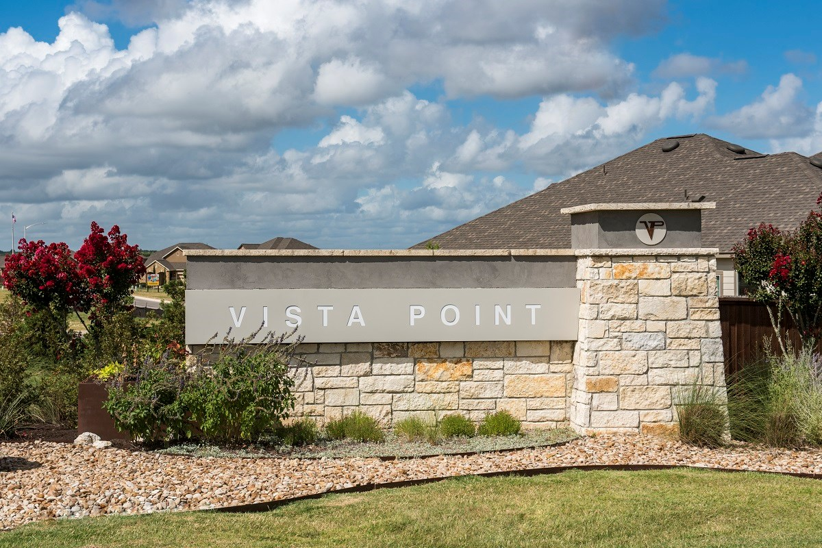 New Homes in Austin, TX - Vista Point Community Entrance