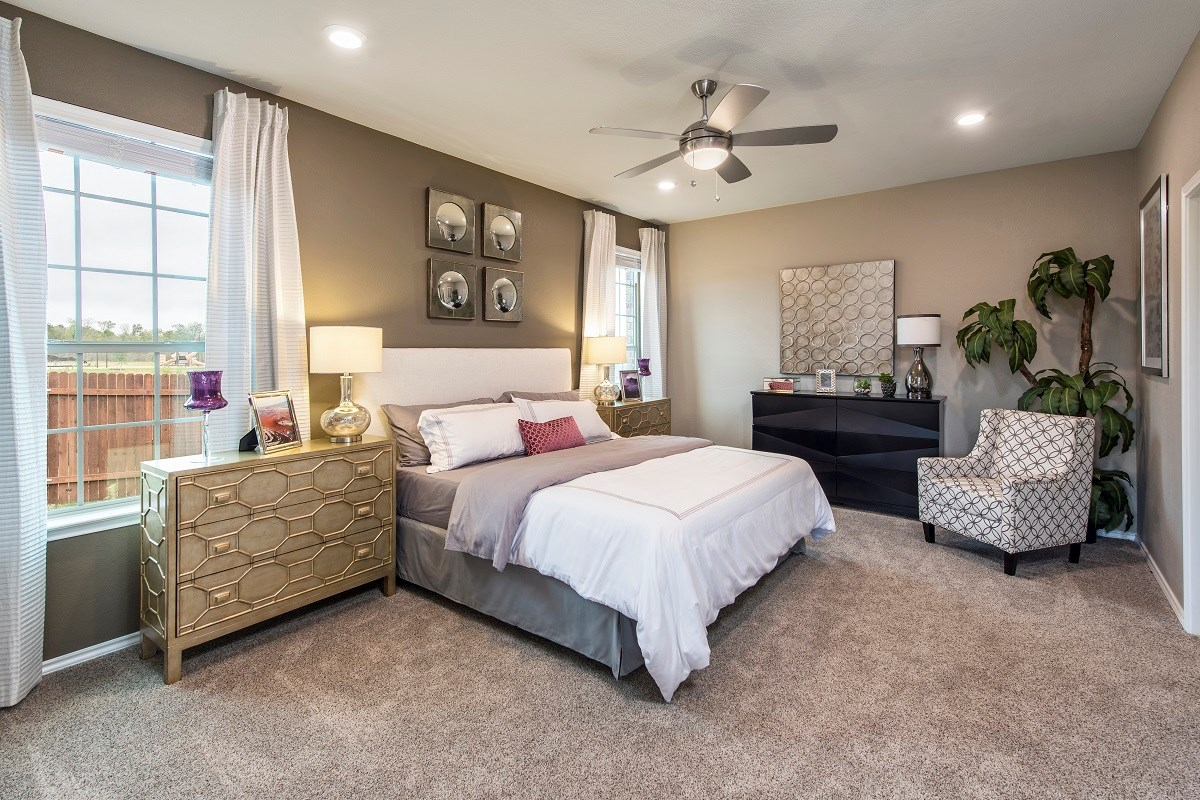 New Homes in Austin, TX - Vista Point A-1792 Master Bedroom