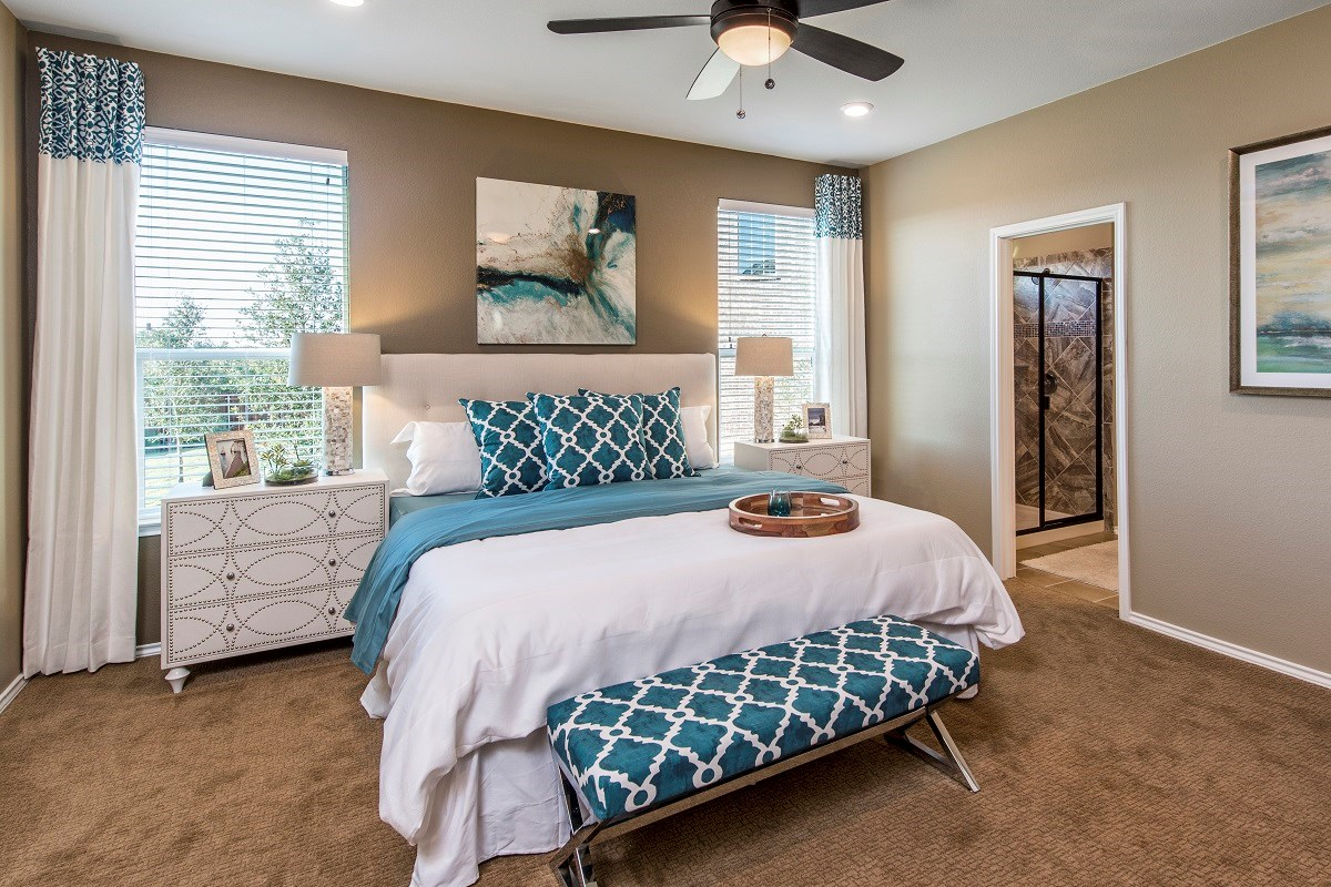 New Homes in Austin, TX - Vista Point A-2655 Master Bedroom