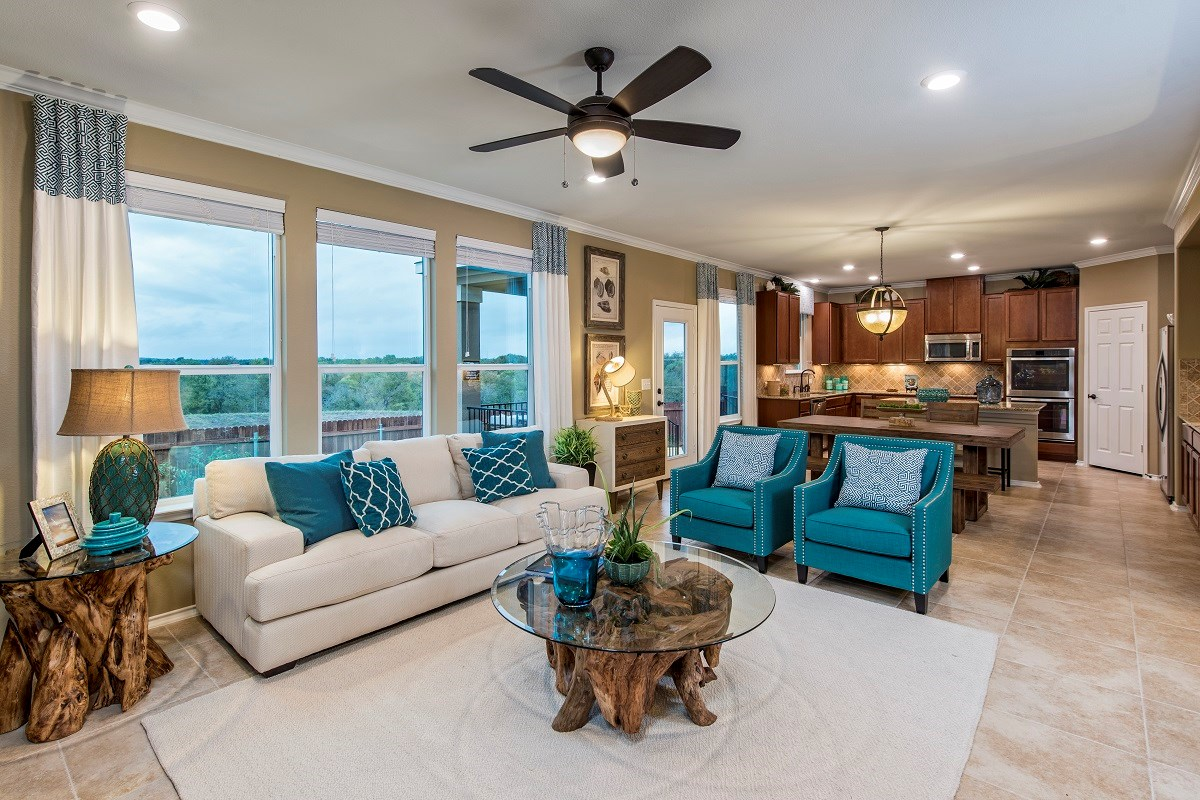 New Homes in Austin, TX - Vista Point A-2655 Great Room
