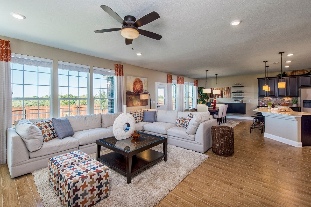 New Homes in Austin, TX - Vista Point A-2881 Great Room