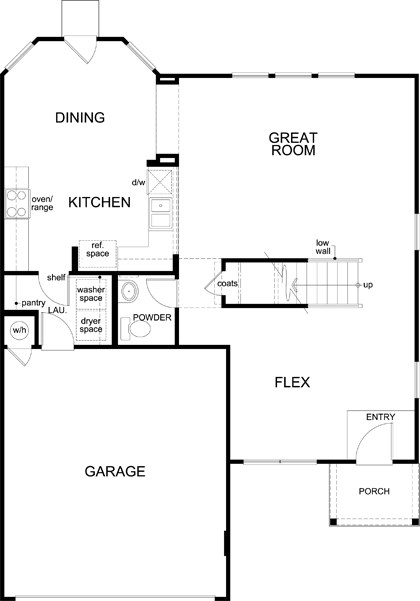 New Homes in Austin, TX - Plan 2177, First Floor