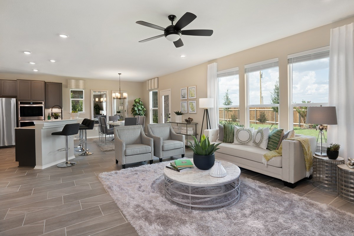 New Homes in Austin, TX - Willow Trace Plan 2403 Great Room