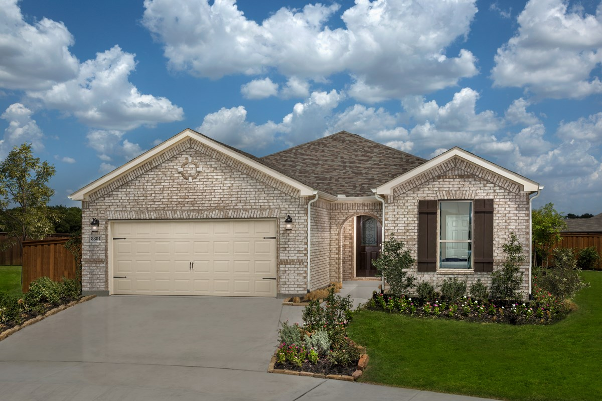 New Homes in Fort Worth, TX - Copper Creek Plan 1813 Exterior