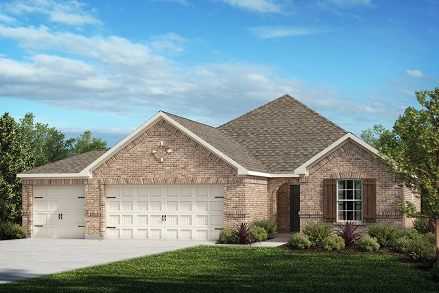 New Homes in Fort Worth, TX - Elevation A - 3-Car Garage Option