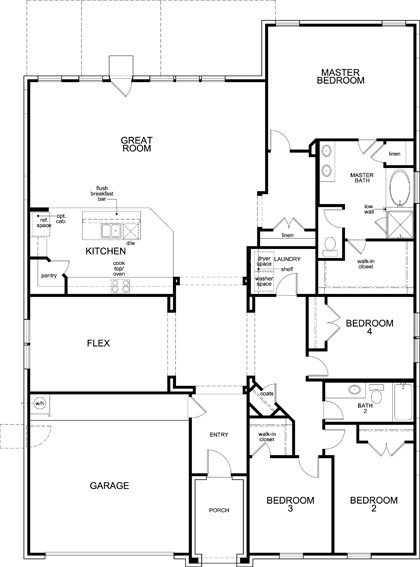 New Homes in Fort Worth, TX - Plan 2586, First Floor