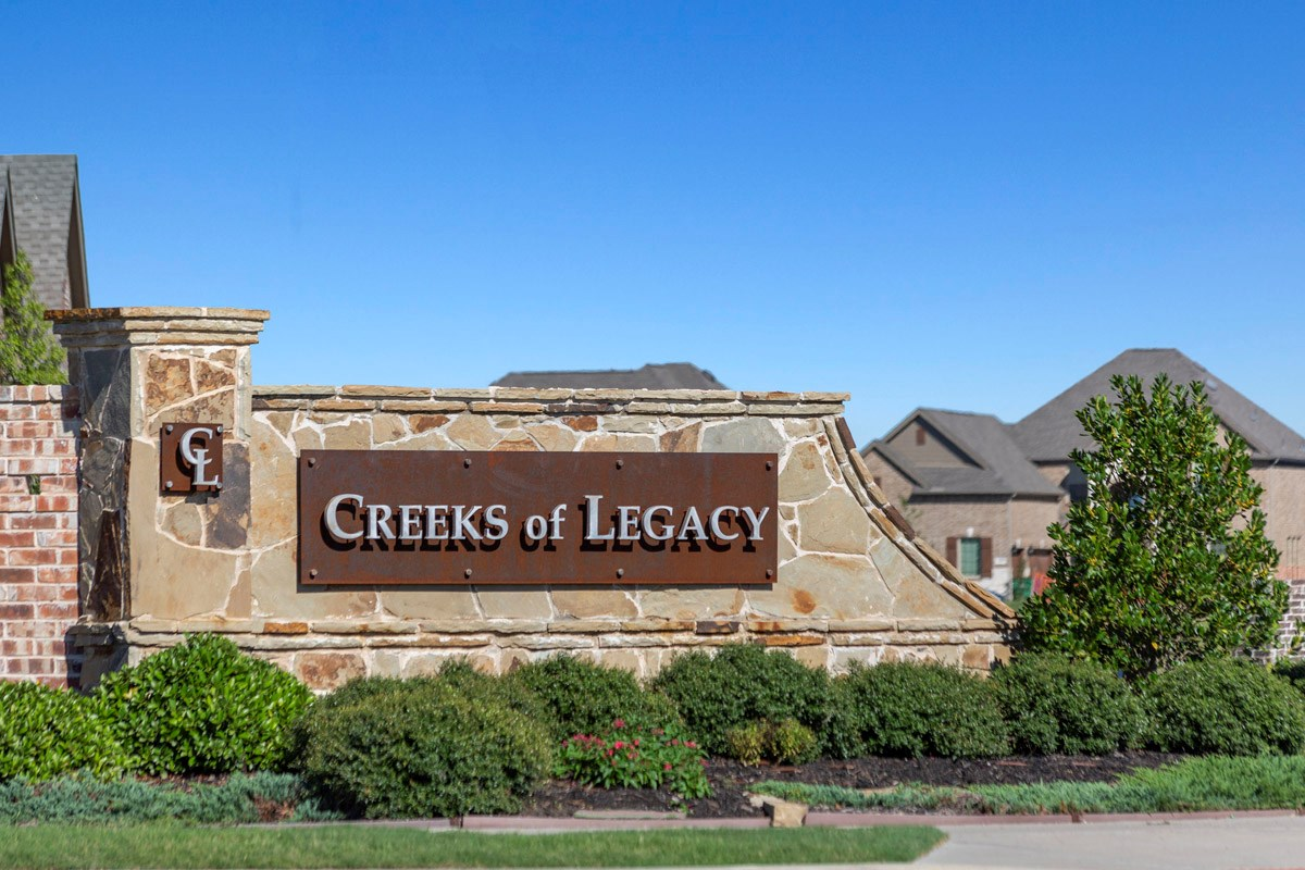 New Homes in Celina, TX - Creeks of Legacy Entry Monument