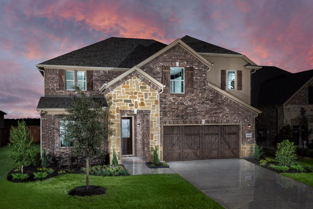 New Homes in Celina, TX - Creeks of Legacy Plan 2981 at Sunset