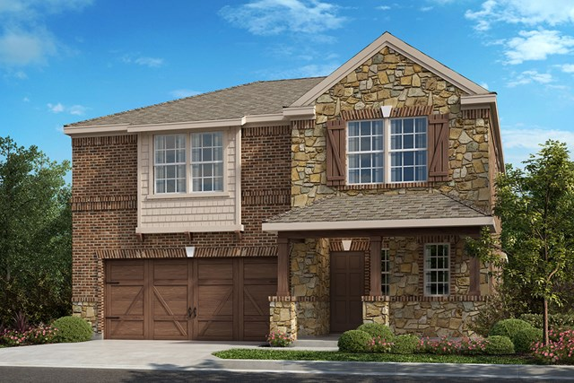 New Homes in Frisco, TX - Plan 2414 Elevation B