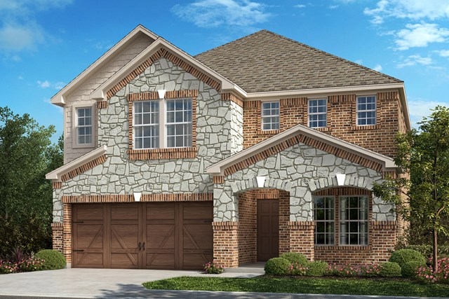 New Homes in Frisco, TX - Plan 2467 Elevation B