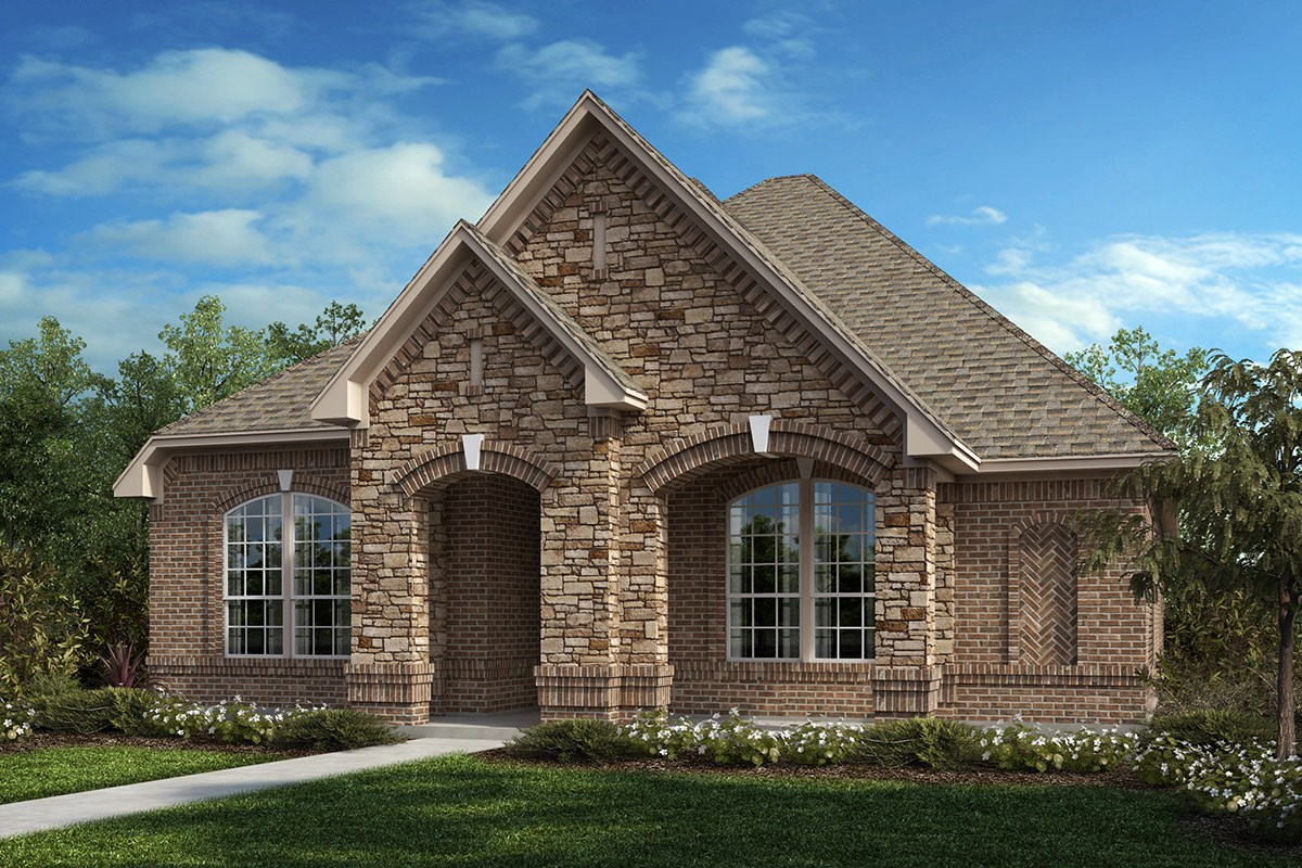 New Homes in Frisco, TX - Retreat at Stonebriar Plan 1833 Elevation C